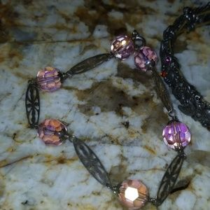 Jewelry - 4 nice bracelets in pink/ purple hues PM 475